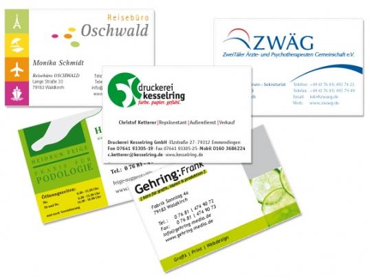 Druckerei Kesselring Freiburg Angebote Visitenkarten
